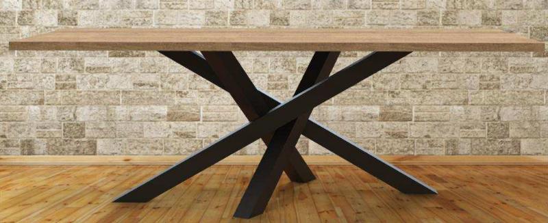 massief houten tafelblad rechthoekig