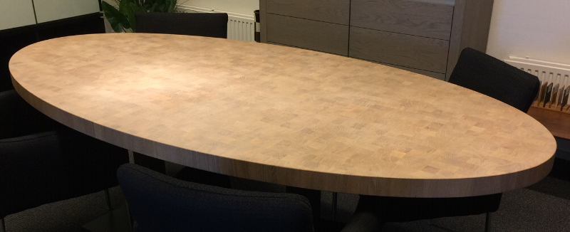 tafel van houten blokjes